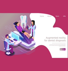 Isometric augmented reality for dental diagnosis vector