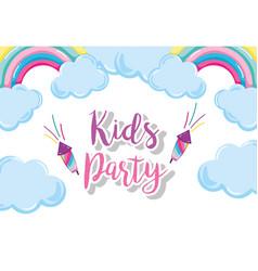 kids party cartoon vector image