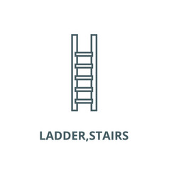 ladderstairs line icon linear concept vector image