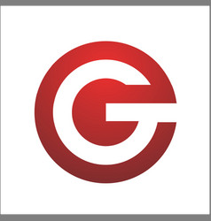 letter g circle element shape symbol logo vector image