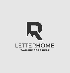 Letter r template vector