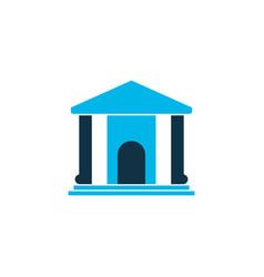 Library icon colored symbol premium quality vector