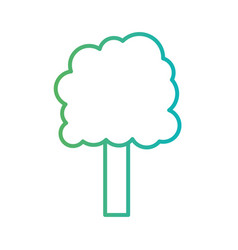 line natural tree to ecology care vector image