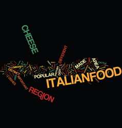 Lombardy the other side of italian food text vector