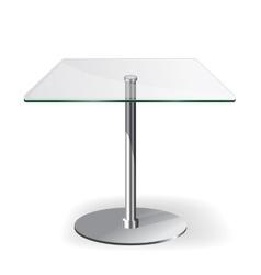 Modern glass table vector image