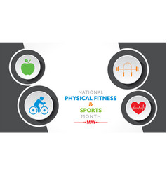National physical fitness and sports month vector