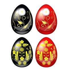 painted easter eggs vector image