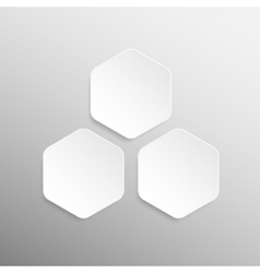 Paper Banner Design Mockup Hexagon vector image