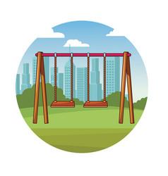 Park playground cartoon vector