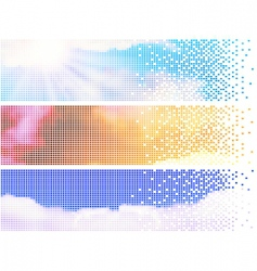 pixelate sky banners vector image