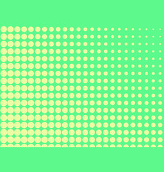 Pop art background the green color turns into vector