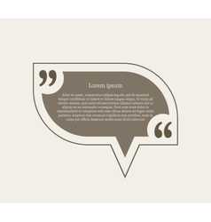 Quotation mark speech bubble vector