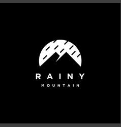 rain and mountain logo icon template vector image