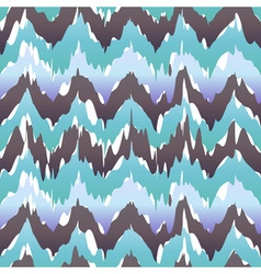 Seamless Ikat Chevron Background Pattern blue cool vector