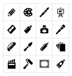 Set icons art vector