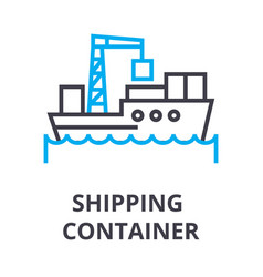 shipping container thin line icon sign symbol vector image