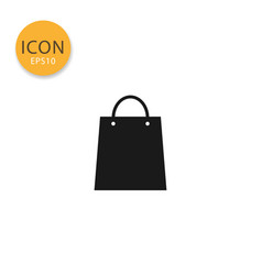 shopping bag icon isolated flat style vector image