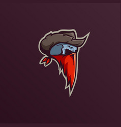 skull bandit mascot logo design template vector image