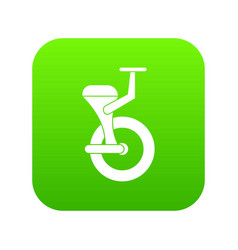 Solo wheel icon digital green vector