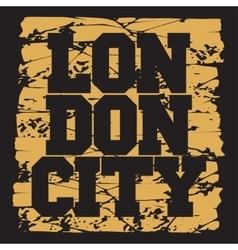 T-shirt London design fashion vector image