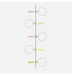Timeline vertical infographic with empty dash line vector