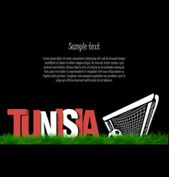 Tunisia and a soccer ball at the gate vector