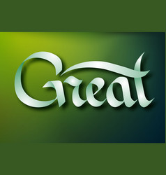 Typographical inscription concept vector