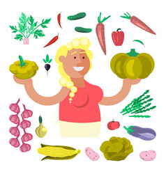vegetable seller character vector image