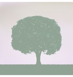 Vintage Tree Design EPS 8 vector image