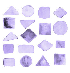 Watercolor geometric design elements5 vector
