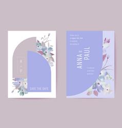 wedding floral invitation botanical card boho vector image