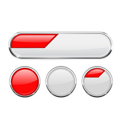 White and red buttons vector