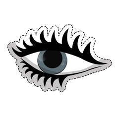 woman eye icon vector image