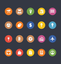 Glyphs Colored Icons 8 vector image vector image