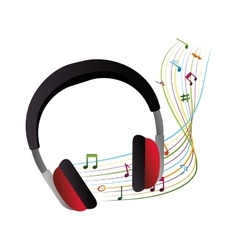 headphone device isolated icon vector image vector image