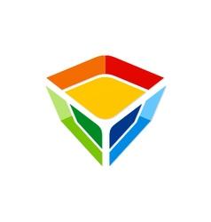 colorful gem technology logo vector image vector image