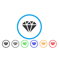diamond rounded icon vector image vector image