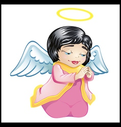 little angel in pink isolated vector image vector image