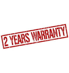 2 years warranty stamp vector image vector image