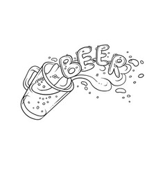 black and white sketch pint vector image vector image