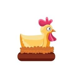 Chicken Nesting Simplified Cute vector image vector image
