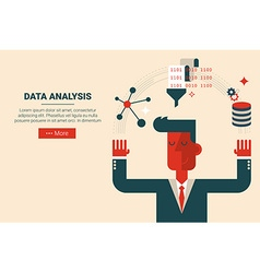 Data analysis research concept vector image vector image