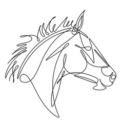 horse continuous line vector image vector image