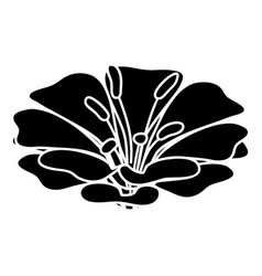 spring flower icon simple black style vector image