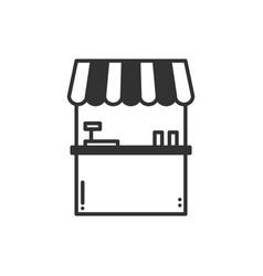 thin line icons set cashbox ticket window food vector image