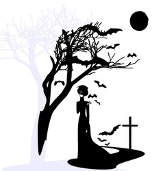 black gothic dame vector image vector image