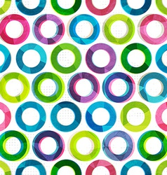 colored circles seamless pattern vector image vector image