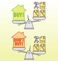 Housing costs vector image
