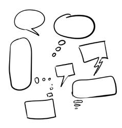 Speech bubble collection vector image