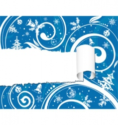 torn Christmas paper vector image vector image
